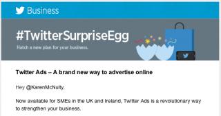 Twitter advertising offer