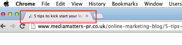 meta title in browser