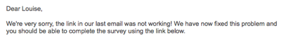 email marketing apology
